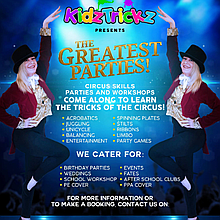 KidzTrickz - The Greatest Parties Circus Entertainment