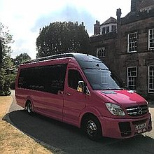 Pink Passenger Party Bus