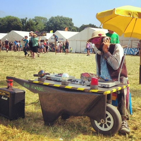 Tip of the Pops Solar Powered Wheelbarrow Disco - DJ , Dorset, Children Entertainment , Dorset,  Mobile Disco, Dorset Children's Music, Dorset