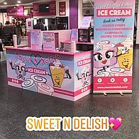 Sweet N Delish Ice Cream Cart