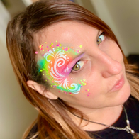 Over the Rainbow Face Painting and Glitter Face Painter