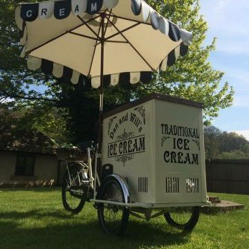 Dan and Wills Ice Cream Bike Sweets and Candies Cart
