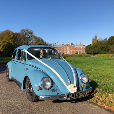 The Little Blue Bug VW Hire Wedding car