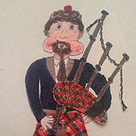 The Scottish Bavarian Bagpiper