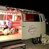 Vintage Camper Booths Sweets and Candies Cart