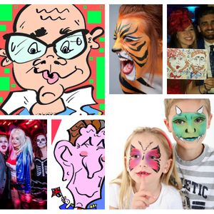 Derby Face And Body Painting Balloon Twister