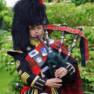 Cambridge bagpiper  Bagpiper
