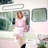 Sweet Ally Scoops Vintage Ice Cream Van Ice Cream Cart