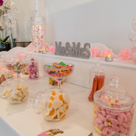 Pitcher Perfect Events Sweets and Candies Cart