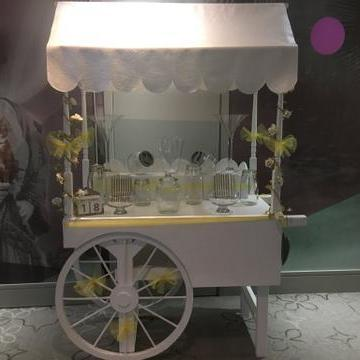 Truly Scrumptious Sweet Tables Sweets and Candy Cart