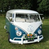 The Little Blue Bus Wedding Company Transport