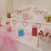 The Little White Cart Company Sweets and Candies Cart