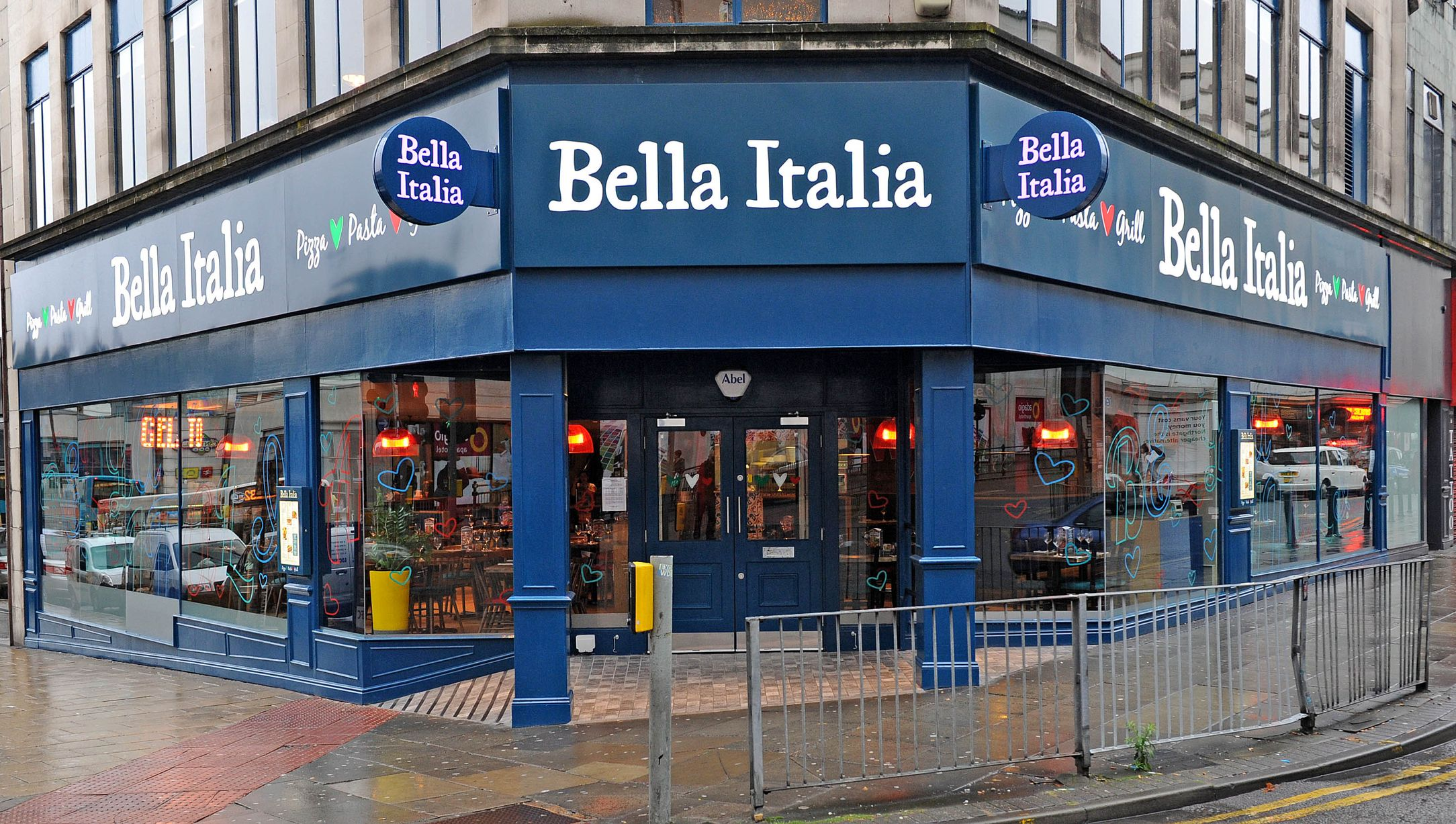 Bella Italia Liverpool for hire